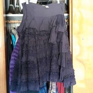 Blue multi layered skirt